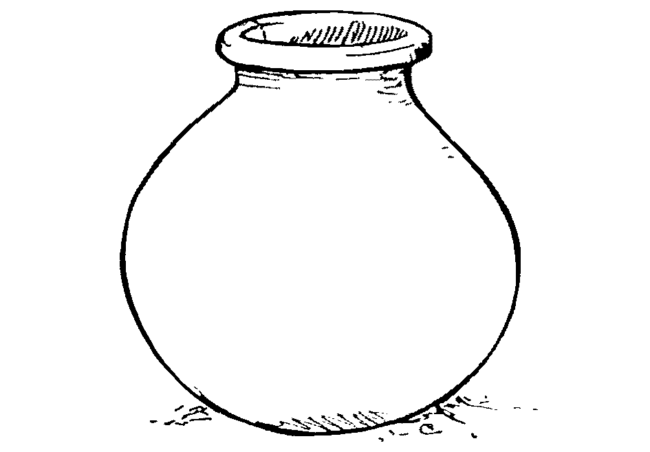 printable clay pot coloring pages - photo#45